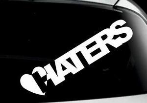 funny-I-LOVE-HATERS-car-window-bumper-laptop-bike-sticker-colours-VW-jdm-DUB