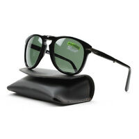 Persol 714 Folding Sunglasses 95/58 Black, Grey Green Polarized Lens Po0714 54mm