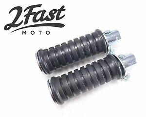2FastMoto Yamaha Round Footrests Foot Pegs DT1 IT200 RD350 YZ Honda Z50 CT70