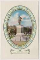 Devon postcard - Drakes Statue, Plymouth Hoe - Embossed - RP