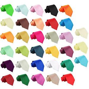 Hommes-Cravate-Satin-Mariage-Standard-Slim-Fine-Noeuds-Multicolore-Marque-DQT
