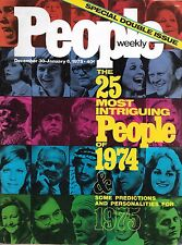 People Magazine December 30, 1974-January 6, 1975 25 Most Intriguing NO LABEL