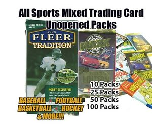 Mixed-Sports-Trading-Card-Unopened-25-Packs-of-Mixed-Brands-Lot