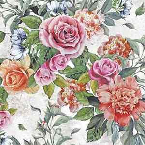Carta Decoupage Shabby Chic.20 Tovaglioli Di Carta Anna Decorazione Fiore Rose Shabby Chic