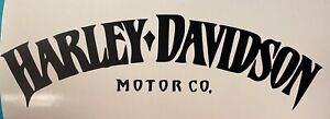 Harley Tank Logo Vinyl Decal - Motorcycle Helmet - Decal - Harley Davidson