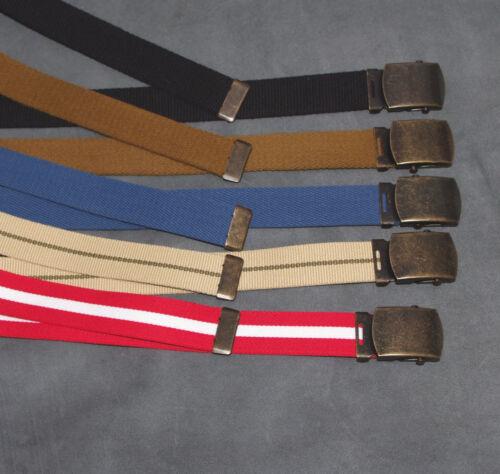 Boys Mens Ladies kids Black Red Blue Beige Brown 30mm Big Canvas Belt l xl xxl