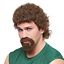 Kenny-Powers-Mullet-Wig-and-Goatee-Beard-Eastbound-Down-Costume-Curly-Adult-Mens miniature 1