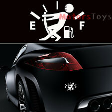 (1x) JDM Funny Pull Fuel Tank Pointer To Full Hellaflush Vinyl Car Sticker Decal