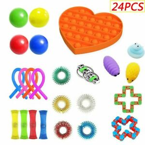 20 x Fidget Sensory Toy Set Autism ADHD SEN Stress Relief Special Need Education