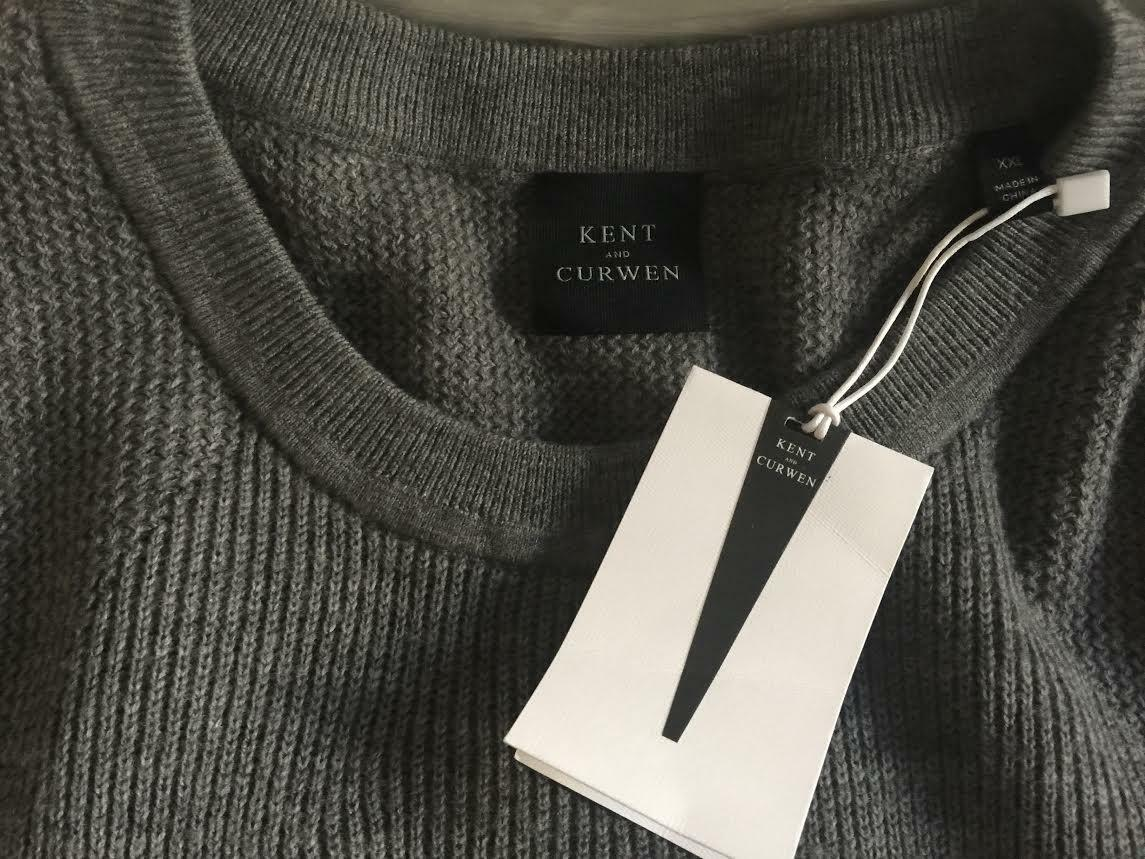 KENT AND CURWEN  Herren HEX COMMANDO MIXED STITCH DETAIL SWEATER SIZE 2XL NWT 345