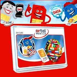 NEW! Germany ORTELMOBILE SIM CARD GERMAN regular \ micro \ nano Europe Ortel EU