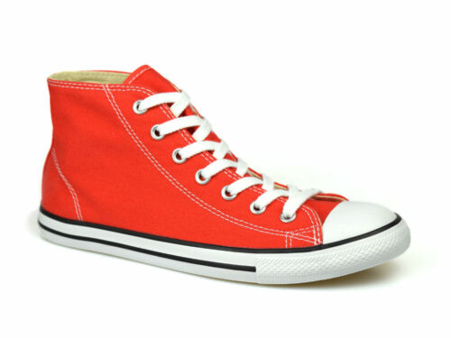 Converse Chuck Taylor All Star Dainty Mid Carnival Red UK 3-5.5 RRP £55 FREE P/&P