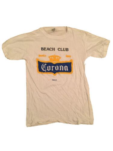 Corona Super Vintage White T Shirt Soft Thin Mater