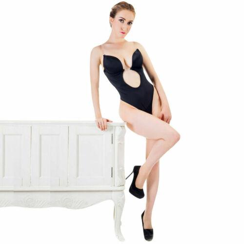 Backless Full Body Shaper Girdle Push Up Bra Seamless Thong Bodysuit Shapewear