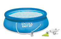 Intex 15' X 48 Easy Set Swimming Pool Kit W/ 1000 Gph Filter Pump & Skooba Vac on sale