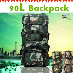 90L-Large-Outdoor-Military-Tactical-Backpack-Rucksack-Camping-Hiking-Luggage-Bag