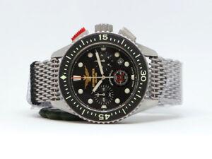 Orologio-Aeronautica-Militare-LEONARDO-Cronografo-Acciaio-Quarzo