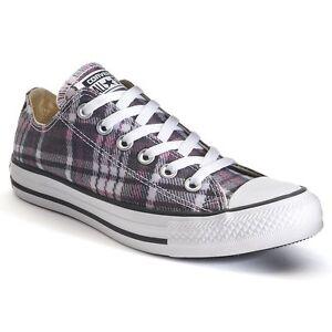 ef14a16b9e4 NIB Converse Chuck Taylor All Star Plaid Sneakers Womens 12 13 14 ...