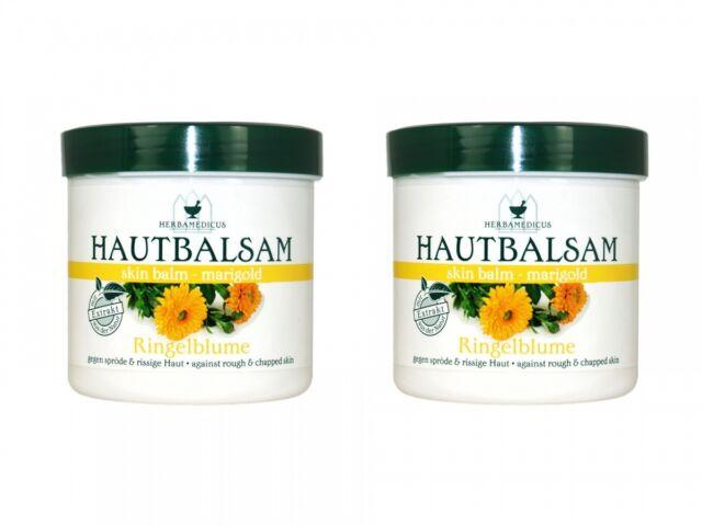 (19,98€/L) Herbamedicus ★ Ringelblume Hautbalsam (2 x 250 ml) marigold skin balm