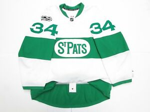 MATTHEWS-TORONTO-MAPLE-LEAFS-ST-PAT-039-S-TEAM-ISSUED-REEBOK-EDGE-2-0-7287-JERSEY