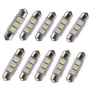 10X-feston-36mm-3-led-voiture-interieur-dome-5050-smd-ampoule-lampe-blanc-pur-12V