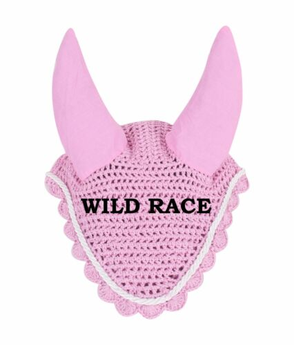 Horse Flyveil Breathable Cotton Ear Bonnet//Mask//Net//Crochet Flyveil