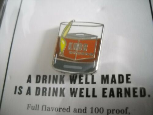 Brand New Clermont Kentucky 4 x Knob Creek Whiskey Lapel Pin Promo Button