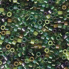 Evergreen Mix Delica Miyuki 11/0 Seed Beads 7.2 Grams