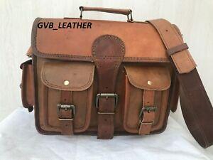 18-034-Men-039-s-Genuine-Vintage-Incredible-Leather-Messenger-Bag-Shoulder-Laptop-Case