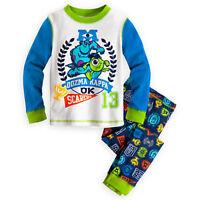 Disney Monsters University Long Sleeve Pajamas For Boys- Size 7 -