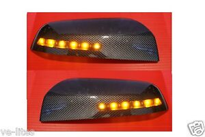 HSV-Commodore-VE-Amber-LED-mirror-covers-Carbon-Finish-Maloo-R8-SS-SSV-SV6-GTS