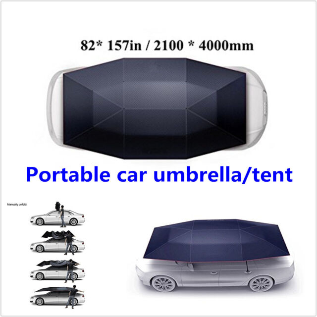 Semi Automatic Outdoor Portable Car Tent Umbrella Uv Protection Sun