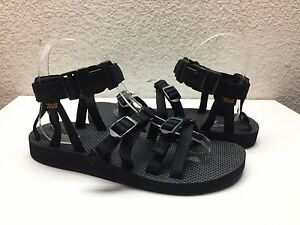 d0d2a838fc40 TEVA WOMEN ALP BLACK STRAPPY SPORT SANDALS US 10   EU 41   UK 8 ...