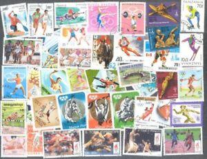 à Condition De Jeux Olympiques De 200 Toutes Différentes Collection De Timbres-afficher Le Titre D'origine