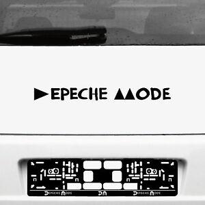 Tattoo Sticker 45cm Black Lettering Delta Car Rear Decor Film Depeche Mode