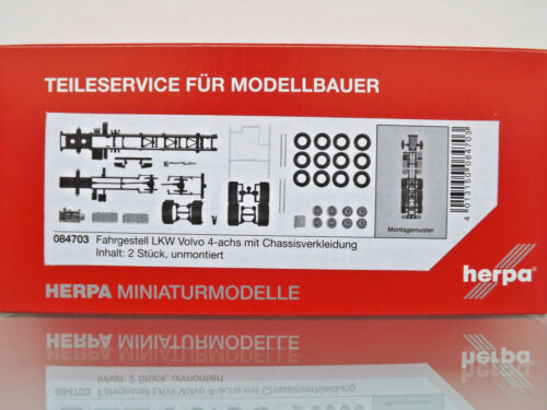 Fahrgestell Volvo 4-achs LKW mit Chassisverkl NEU Herpa 084703-1:87