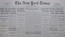 2-1931 FEBRUARY 27 WORLDS NEWSPAPERS SOLD TO SCRIPPS HOWARD HOOVER FRANCE FLAX