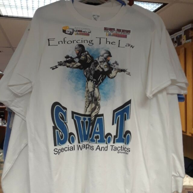 Kids Youth XL 18-20 T-shirt White SWAT Enforcing the Law Specialized Weapons