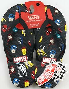 27e21417c284 New VANS x Marvel Black W  Classic Avengers Heads Ultra Cush Flip ...