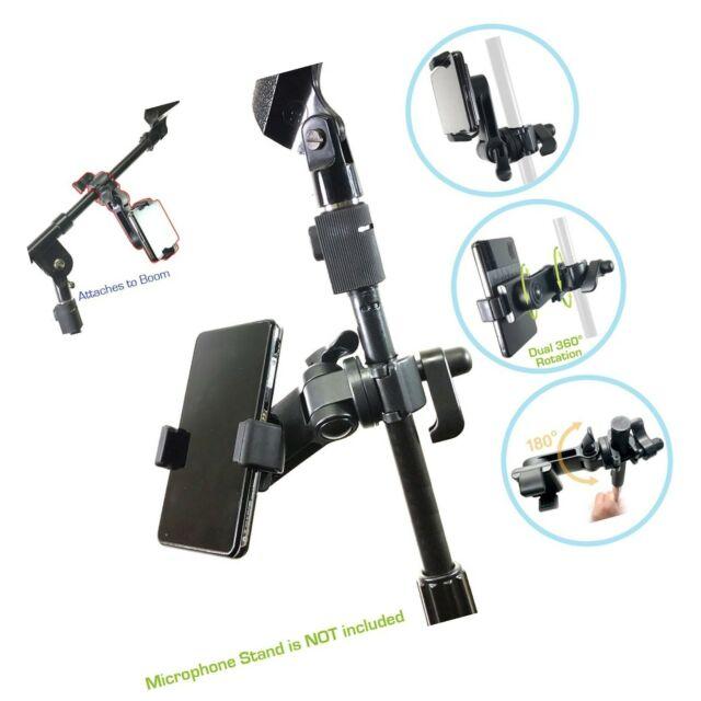 universal microphone mic stand mount phone holder for iphone samsung smartphone for sale online. Black Bedroom Furniture Sets. Home Design Ideas