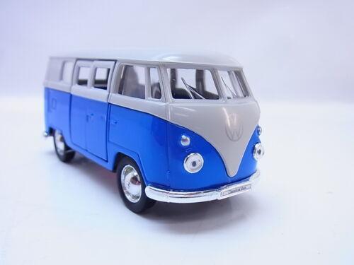 27600Welly VW T1 Bus 1963 blau Modellauto 1:40 Neu