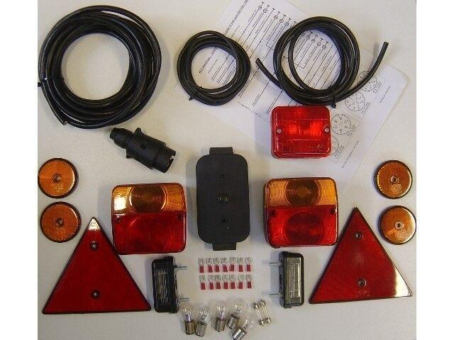 Anhängerbeleuchtung Set - alle Leuchten, Reflektoren u. Kabel für Ihren Anhänger