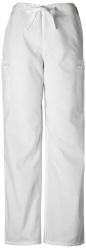 CherokeeWorkwear Scrubs Men/'s Drawstring Cargo Pant Short 4000S WHTW White