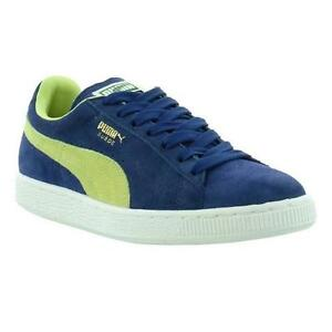 0a8d02bd258a Puma Suede Classic Mens Womens Blue Suede Leather Trainers Shoes ...