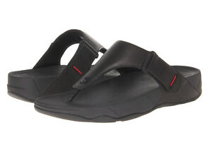 51752fdfc42e Men FitFlop Trakk II Faux Leather Sandal 279-090 All Black 100 ...