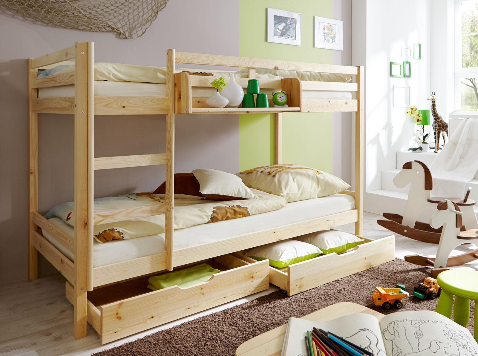 Etagenbett Junge Und Mädchen : Etagenbett doppelbett stockbett rene kiefer massiv natur günstig