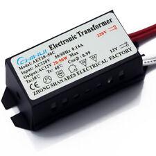 TRANSFORMATEUR 220V VERS 12V 20W à 50W LED HALOGENE ECLAIRAGE ALIMENTATION