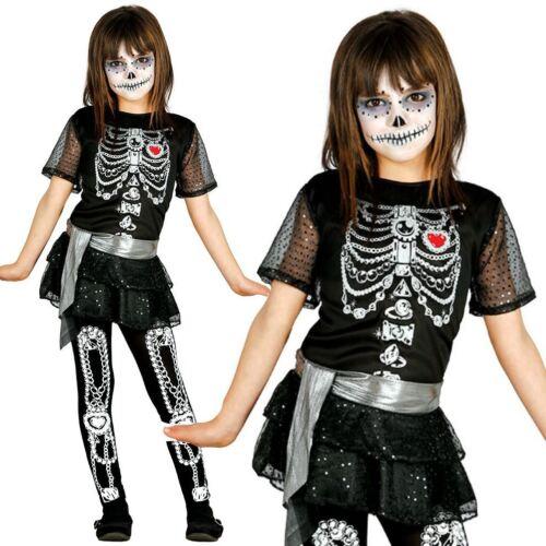 Bambine Carino Shiny Scheletro Tutu Costume Costume Di Halloween Vestito
