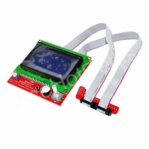 New-3D-Printer-RAMPS1-4-12864-LCD-Display-Controller-With-Adapter-For-Reprap-Men