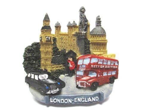 London Magnet Bus Taxi Big Ben Poly Souvenir Great Britain,Neu